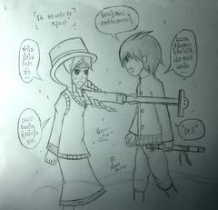 Miss G meet Swordman P
