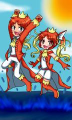 Gijinka : Jumping Together With Magikarp~!!