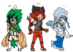 Gijinka : Alola Starters's Character Design