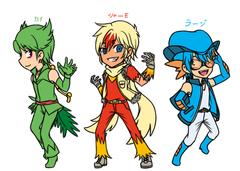 Gijinka : Hoenn Starters's Character Design