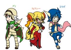 Gijinka : Kalos Starters's Character Design