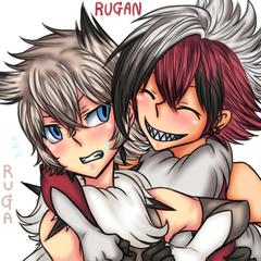 Gijinka : Ruga & Rugan The Lycanroc Brothers
