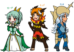 Gijinka : Unova Starters's Character Design