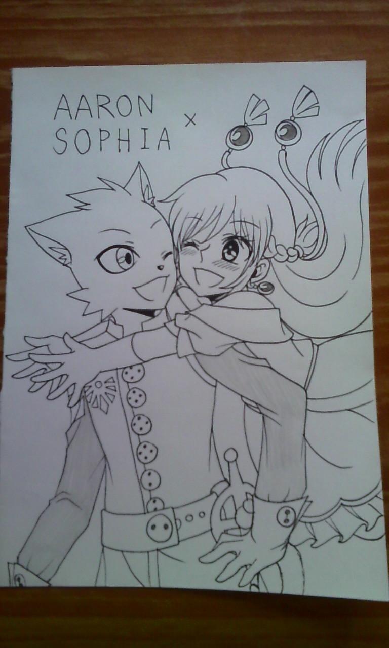 Crossover : Aaron x Sophia