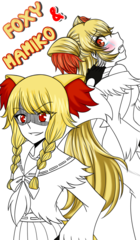 Crossover : Foxy & Mamiko The Delphox (ReDraw)