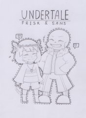 [FAN ART] Undertale Frisk & Sans