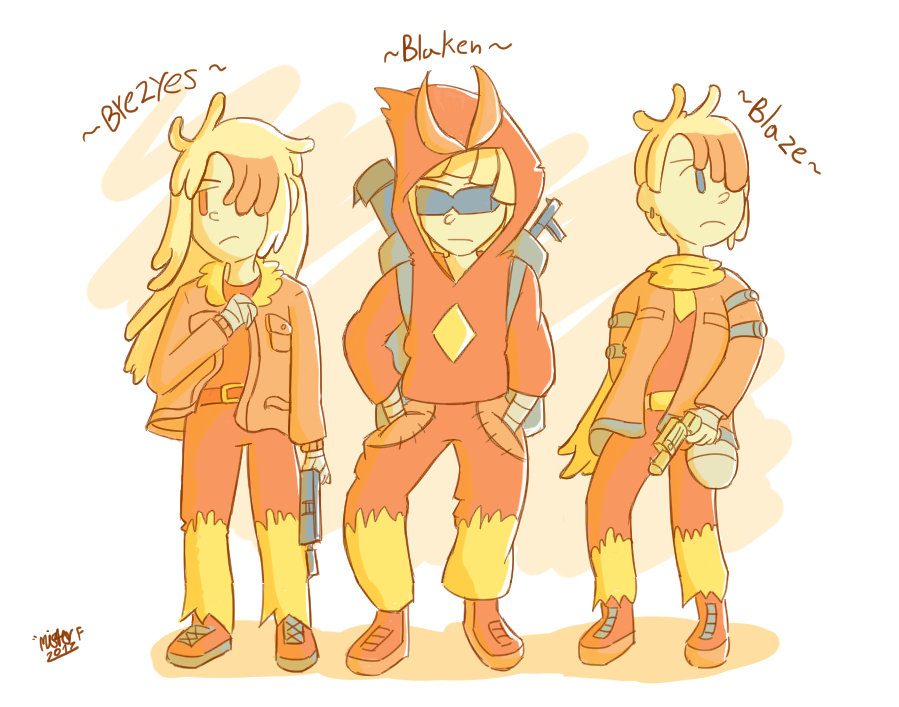 [Art Trade] Blaziken Team