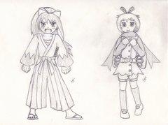 Gijinka - Sakura the Mawile & Angelina the Ribombee